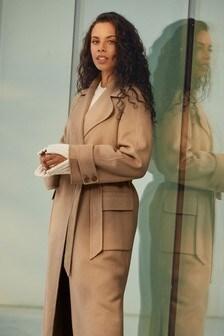 Пальто ручного пошива с добавлением шерсти