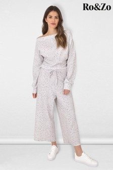 Ro&zo Grey Speckle Slouchy Jumpsuit (975535)   $104