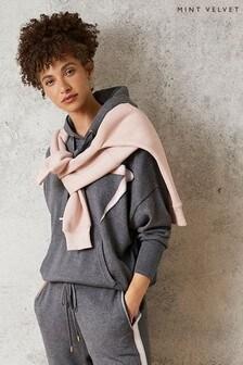 Mint Velvet Grey Lightning Knitted Hoody