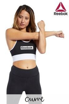 Reebok Curve Black/White Linear Logo Bra