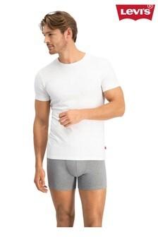 מארז שתי חולצות טיחלקות עם צווארוןמעוגללגברים שלLevi's®