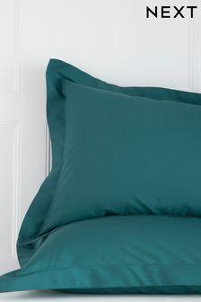 Set of 2 Dark Teal Cotton Rich Pillowcases