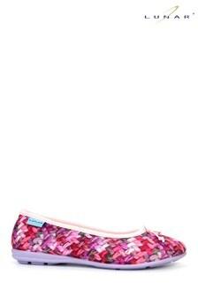 حذاء للبيت طراز باليرينا وردي نسائي منLunar