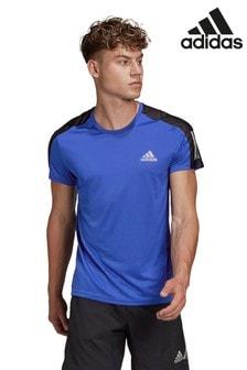 adidas Blue Own The Run T-Shirt