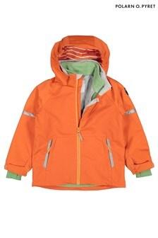 Polarn O. Pyret Orange Waterproof Shell Coat