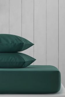 Зеленая натяжная простыня с высоким содержанием хлопка