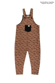 Turtledove London Brown Organic Cotton Air And Sea Easy Fit Dungarees
