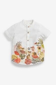 Рубашка с коротким рукавом и окантовкой (3 мес.-7 лет)
