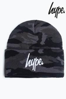 Hype. Midnight Camo Script Beanie Hat