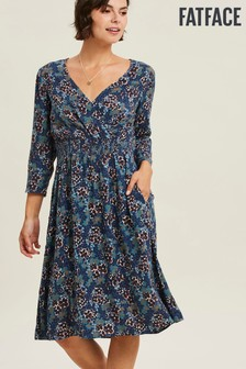 FatFace Jocelyn Ink Floral Wrap Dress