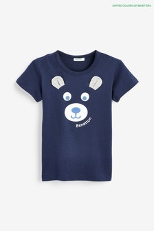 Benetton Navy Bear T-Shirt