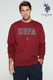 U.S. Polo Assn.圖案圓領運動衫