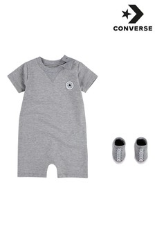 Converse Baby Romper and Bootie Set
