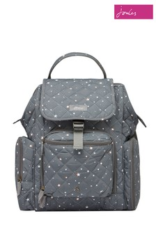 Joules Grey Dinky Quilted Changing Rucksack