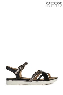 Geox Women's Hiver Black Sandals