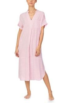 חולצת פיג'מה מקסי ורודה של Donna Karan