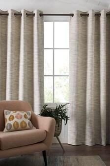 Tweedy Twist Eyelet Lined Curtains