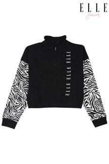 Elle Junior Zebra Half Zip Sweatshirt