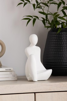 White Abstract Figure Ornament