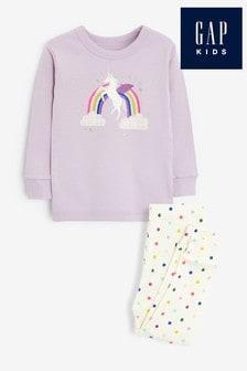 Gap ZweiteiligesPyjama-Set mit Einhorndesign