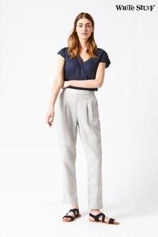 White Stuff Grey Maison Linen Trousers