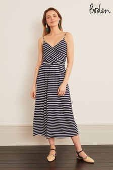 Niebieska dżersejowa sukienka midi Boden Hope