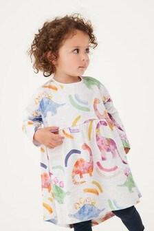 فستان جيرسيه قطن (3 شهور -7 سنوات)