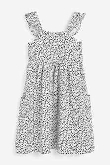 Платье с оборками и бретелями (3-16 лет)