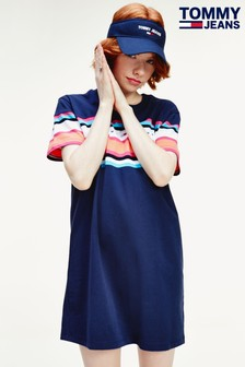 Tommy Jeans Stripe Colourblock T-Shirt Dress