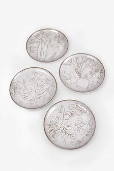 Set of 4 Natural Oakley Side Plates