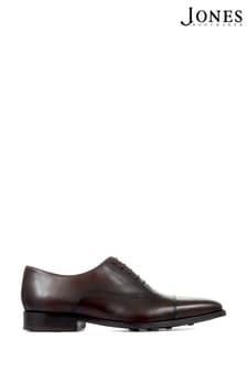 Jones Bootmaker Dark Brown Polished Leather Men's Oxford Shoes