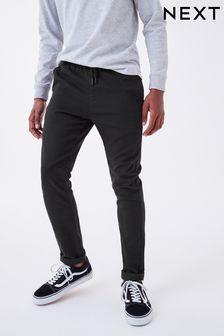 Pantalon à enfiler à taille côtelée (3-16 ans)