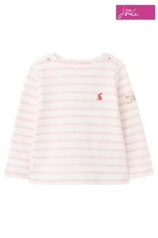 Joules Pink Harbour Stripe Organically Grown Cotton Jersey Top