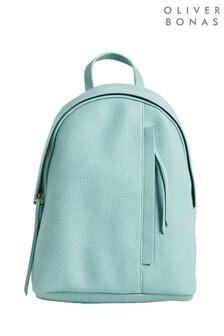 Зеленый рюкзак с молнией Oliver Bonas Minnie