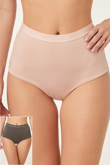 High Waist Logo Knickers Two Pack