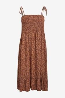Smocked Strappy Dress