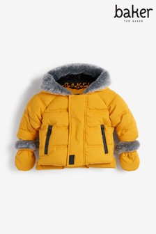 Baker by Ted Baker Mustard Padded Coat