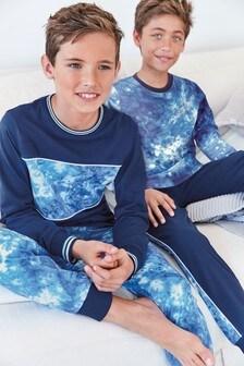 Набор из 2 пижам с принтом тай-дай  (3-16 лет)