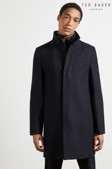 Ted Baker Rockies Wool Funnel Neck Coat