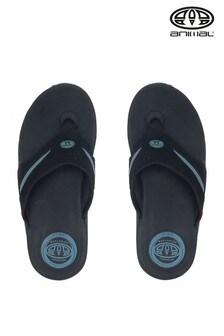 Animal Black Fader Flip Flops