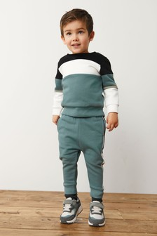 Colour Block Crew and Jogger Set (3mths-7yrs)