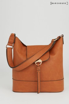 Warehouse Tan Slouchy Shoulder Bag