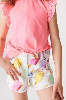 Ice Cream Printed Shorts (3-16yrs)