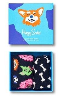 Happy Socks Mens Dog Two Pack Gift Box