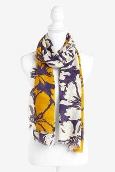 Легкий шарф с цветочным узором