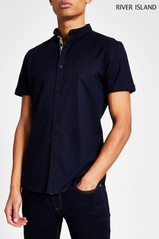 River Island Navy Oxford Shirt