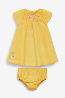 Smock Dress With Matching Knickers (0mths-2yrs)