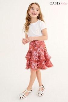 Oasis Tiered Ruffle Skirt