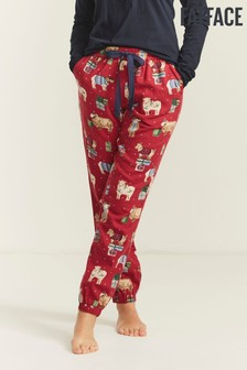 FatFace Red Sheep Cuffed Joggers