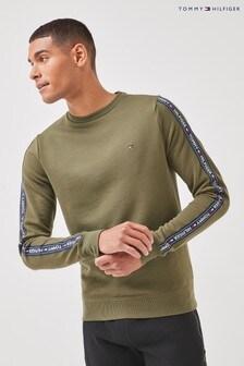 Tommy Hilfiger綠色正宗休閒運動衫